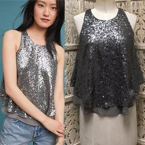 Anthropologie Sunday in Brooklyn sequin tank top